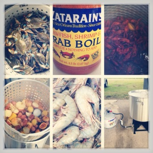 Spicy shrimp, crabs, crawfish...the Louisiana way!