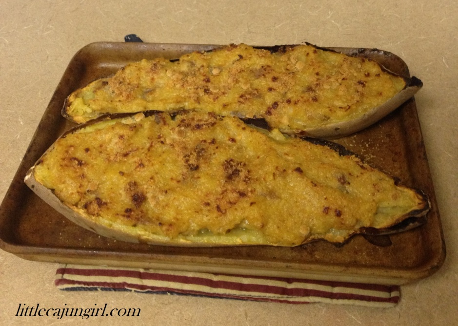 Twice-baked Chipotle Bacon Sweet Potatoes: LittleCajunGirl.com
