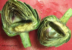 Grilled Artichoke with Garlic Butter Dipping Sauce: LittleCajunGirl.com