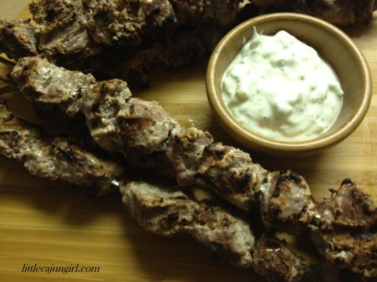 Greek Beef Kebabs: LittleCajunGirl.com
